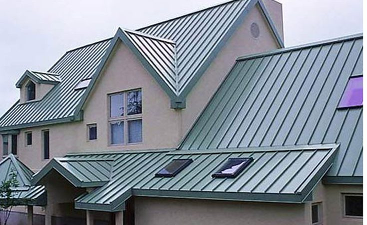 house with SL-16 metal roofing